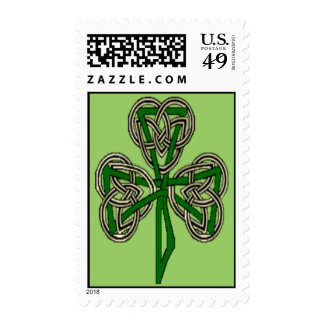 Shamrock Cross Knot Postage Stamps