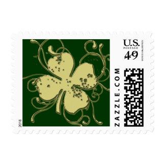 Shamrock Custom US Postage Stamps