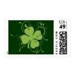Shamrock Custom US Postage Stamps Stamp