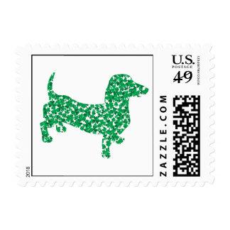 Shamrock Dachshunds Postage Stamp