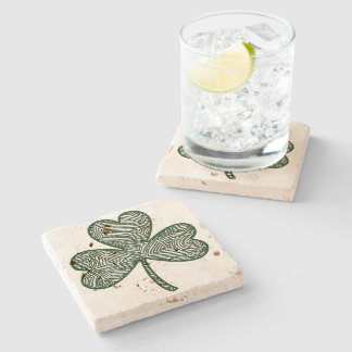 Shamrock (Dark) Stone Coaster
