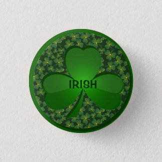 Shamrock Design Button