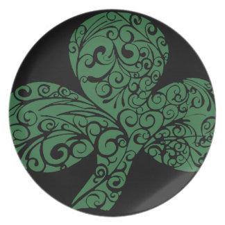 Shamrock Design Party Plates