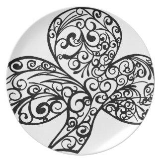 Shamrock Design Plate