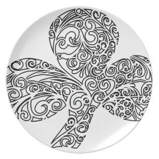 Shamrock Design Plates
