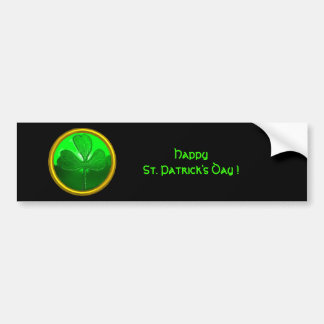 Shamrock detail from SAINT PATRICK'S CELTIC HEART Bumper Sticker