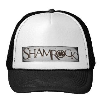 Shamrock Distressed Words Mesh Hat