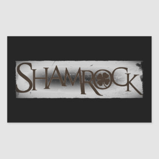 Shamrock Distressed Words Rectangular Stickers
