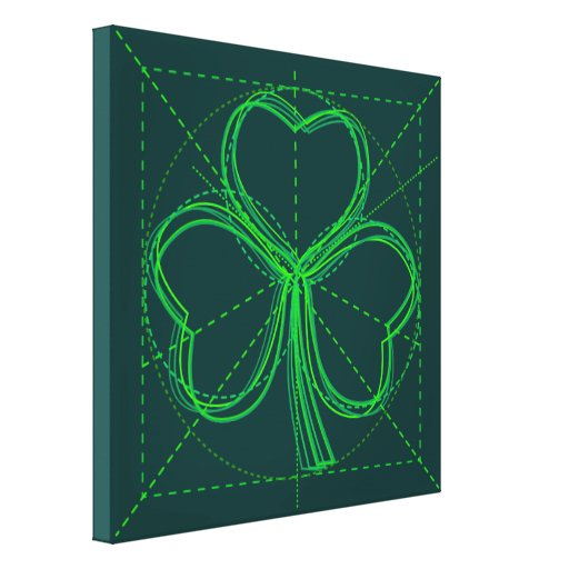 Shamrock Drawing Stretched Canvas Prints