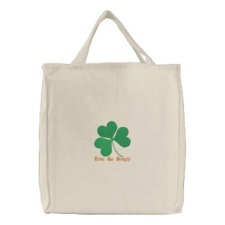 Shamrock Embroidered Bag Template