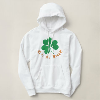 Shamrock Embroidered Women Hoodie Template
