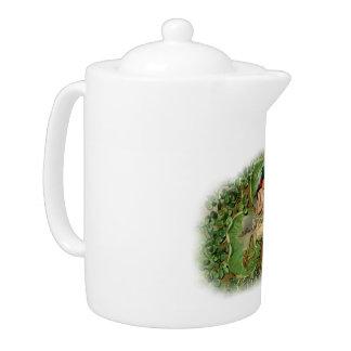 Shamrock Fairy Tea Pot - 1