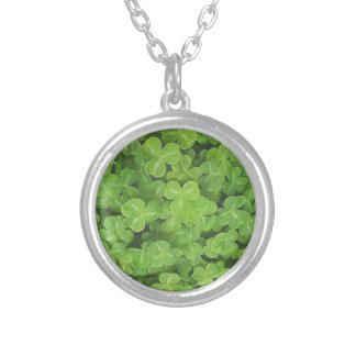Shamrock Fields by Kenneth Yoncich Silver Plated Necklace