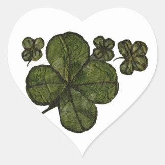 Shamrock Fields Heart Sticker
