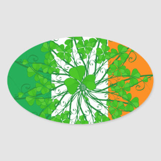Shamrock Flag 2 Oval Sticker