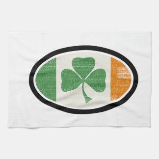 Shamrock flag oval towel