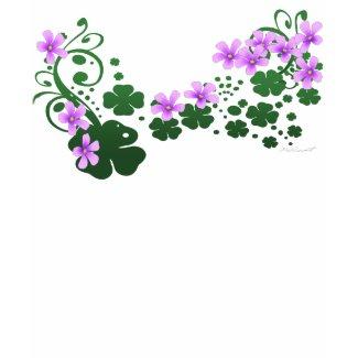 Shamrock Flowers T-hirt