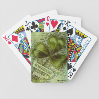 Shamrock for Ireland Bicycle Playing Cards