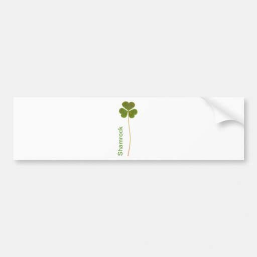 Shamrock for Saint Patrick's Day Bumper Stickers