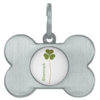 Shamrock for Saint Patrick's Day Pet ID Tag