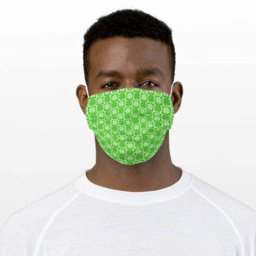 Shamrock, Four-Leaf Clover Cloth Face Mask