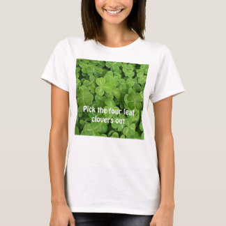 shamrock, four-leaf-clover, four-leaf-clover, P... T-Shirt