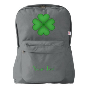 Shamrock Four leaf Clover Hearts Backpack