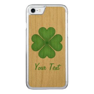 Shamrock Four leaf Clover Hearts Carved iPhone 8/7 Case