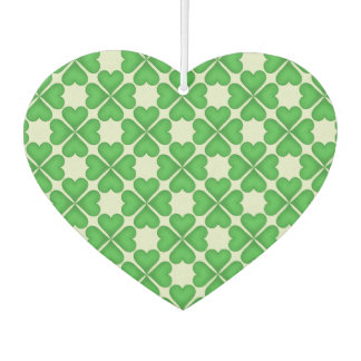 Shamrock Four leaf Clover Hearts pattern Customize Air Freshener
