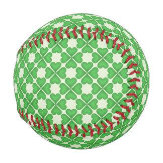 Shamrock Four leaf Clover Hearts pattern Customize Baseball
