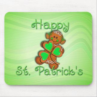 SHAMROCK GIRL HAPPY ST. PATRICKS by SHARON SHARPE Mouse Pad