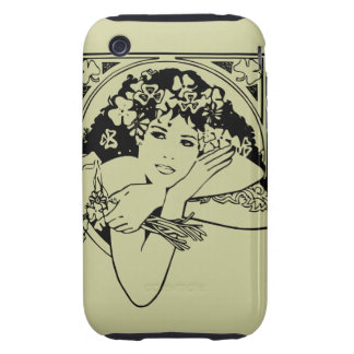 Shamrock girl on any color iPhone 3 tough cases