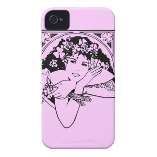 Shamrock girl on any color iPhone 4 Case-Mate case
