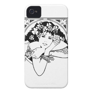 Shamrock girl on any color iPhone 4 cover