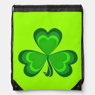 Shamrock Glory drawstring backpack