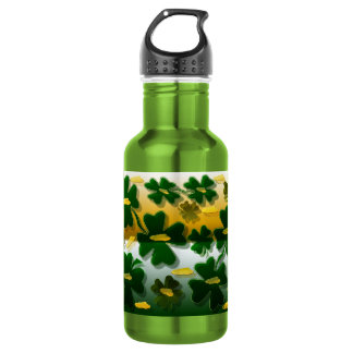 Shamrock Gold Coins Stainless Steel Water Bottle