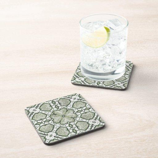Shamrock Granite Coasters
