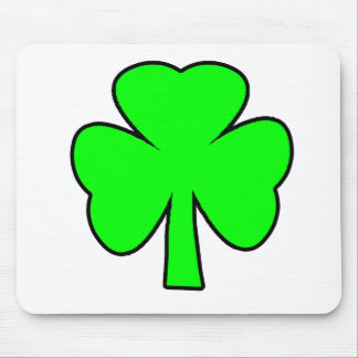 Shamrock Green Black The MUSEUM Zazzle Gifts Mouse Pad
