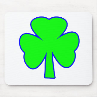 Shamrock Green Blue The MUSEUM Zazzle Gifts Mouse Pad