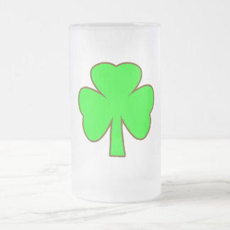 Shamrock Green Brown The MUSEUM Zazzle Gifts 16 Oz Frosted Glass Beer Mug