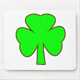 Shamrock Green Brown The MUSEUM Zazzle Gifts Mouse Pad