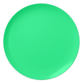 Shamrock Green Party Plate