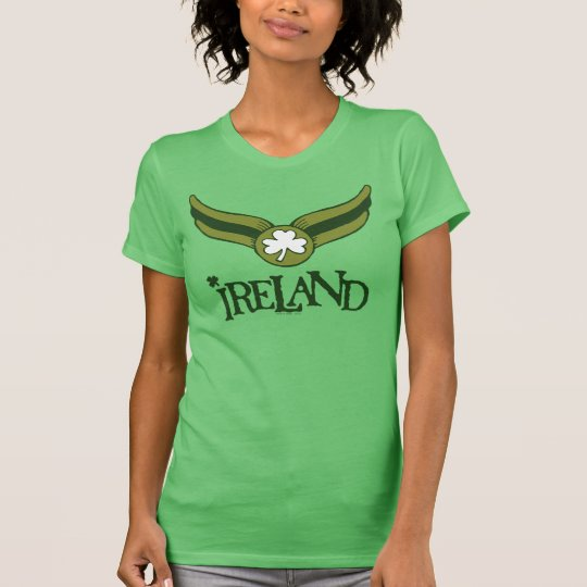 Shamrock Green Snitch with Ireland Name T-Shirt