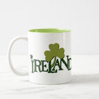 Shamrock Green Snitch with Ireland Name Two-Tone Coffee Mug