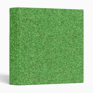 Shamrock Green Sparkles Binder
