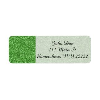 Shamrock Green Sparkles Label