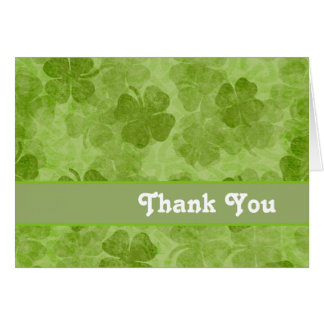 Shamrock Green Thank You card