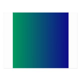 Shamrock Green to Ultramarine Vertical Gradient Postcard
