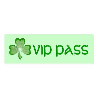 Shamrock Green 'VIP PASS' business card skinny