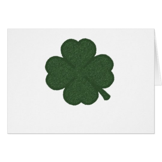 shamrock green white crosshatch card
